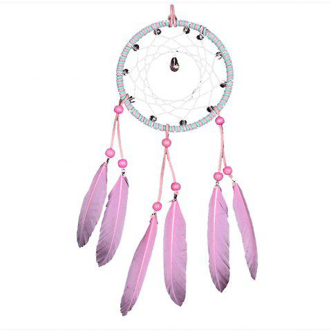 Unique Sweet Pink Crystal Dreamcatcher
