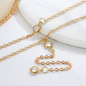 Fashion Beach Multilayer Diamond Crystal Necklace -
