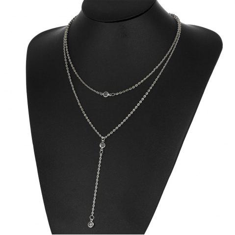 Hot Fashion Beach Multilayer Diamond Crystal Necklace