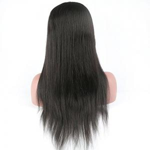 Modern Fairy Virgin Human Hair Front Lace Wig Straight Free Part -