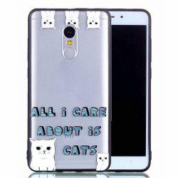 Back Cover for Xiaomi Redmi Note 4 / 4X Cat Pattern TPU and Acrylic Ultra Thin Shockproof Relief Case -