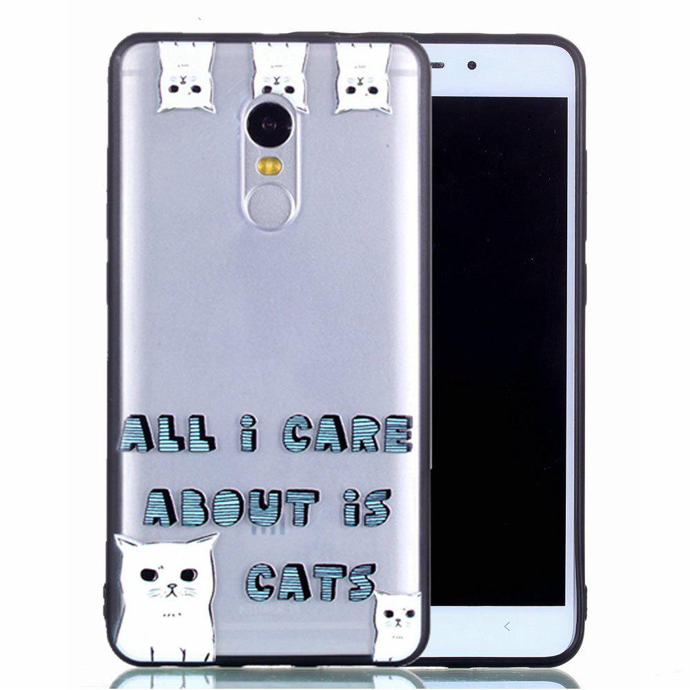 Latest Back Cover for Xiaomi Redmi Note 4 / 4X Cat Pattern TPU and Acrylic Ultra Thin Shockproof Relief Case