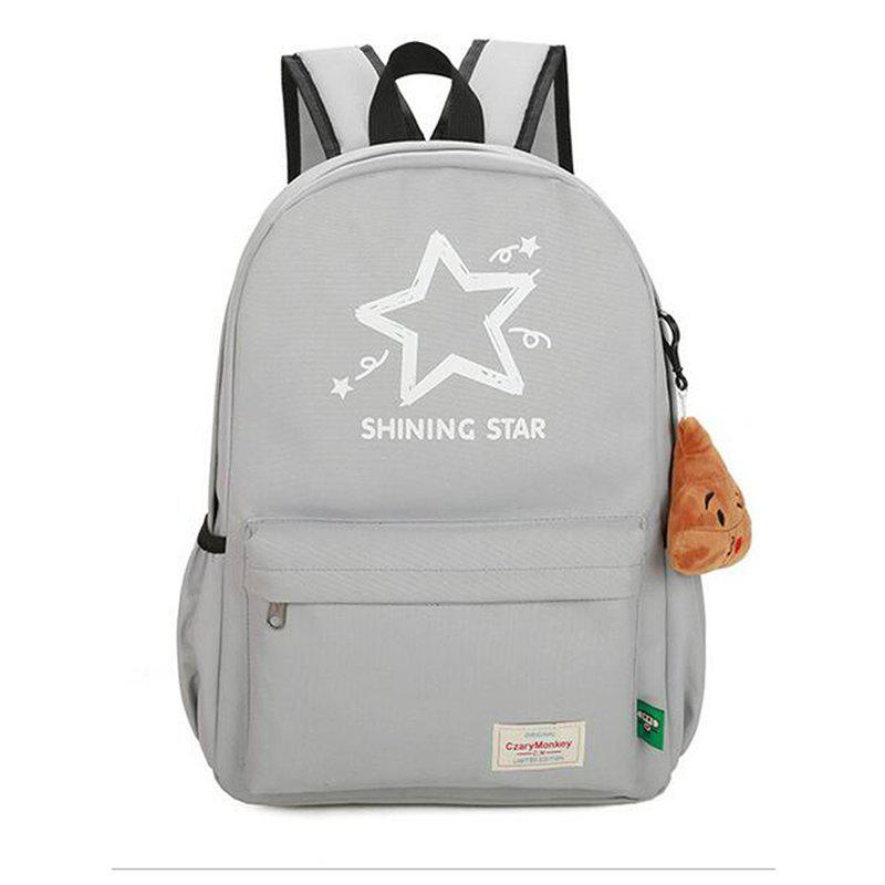 Buy Printed Five Pointed Star Canvas Backpack