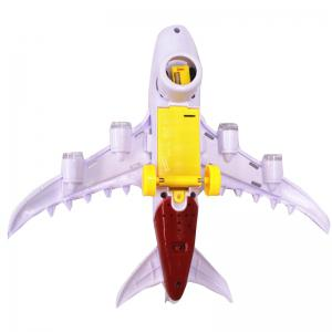 Children Intelligence Assembly Air Passenger Airliner Flashing Sound Music  Plastic Model Aircraft Toys -