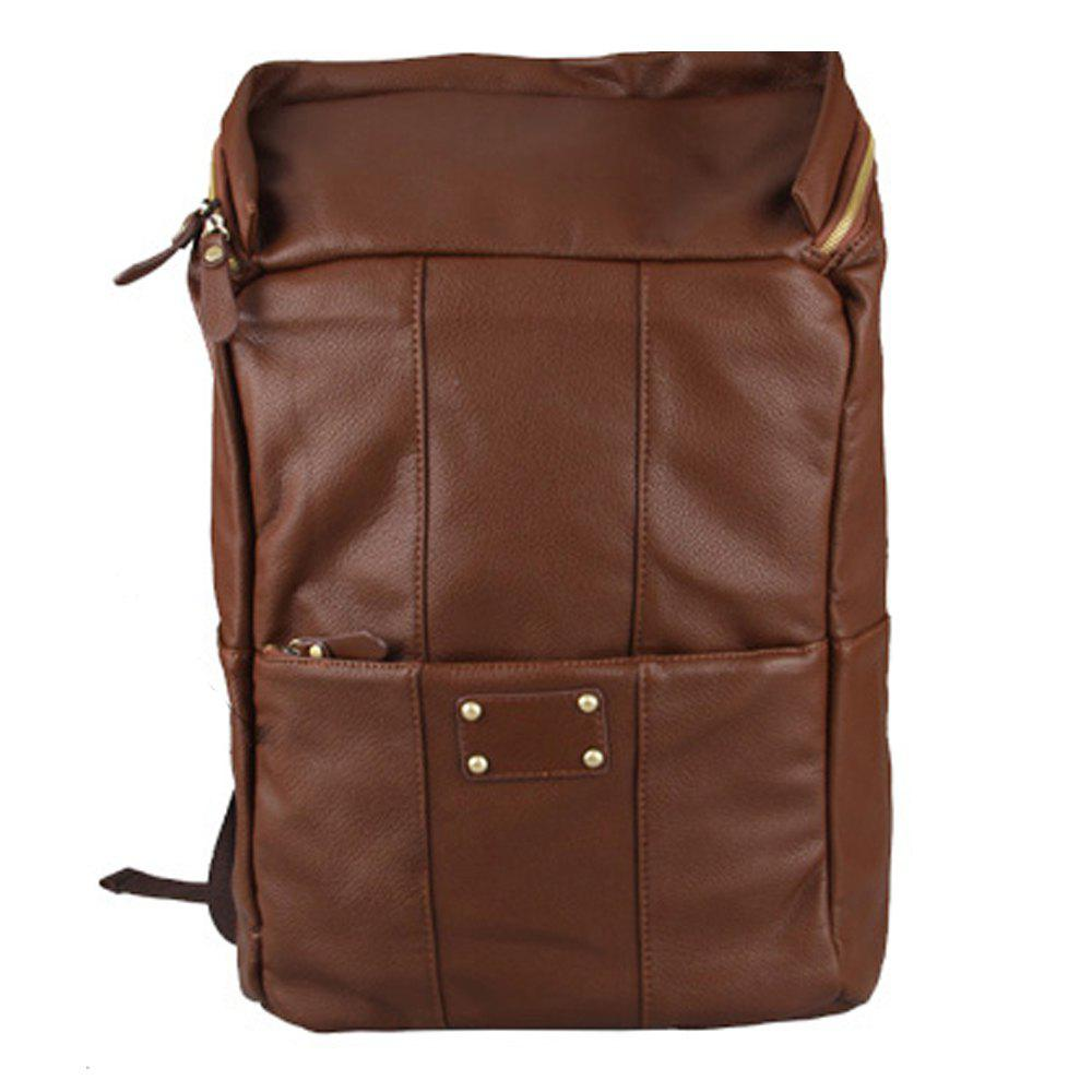 Best 1PC Men'S Backpack  Fashion PU Leather College Bags