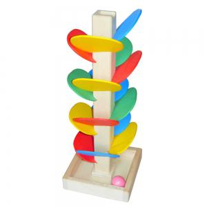 Spiral Ball Game Toy Educational Wooden Tree Marble Kid Child Tower Build Baby -