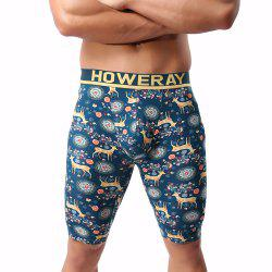 Cotton Printed Elk Men's Trousers -