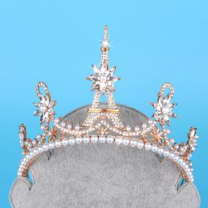 Eiffel crown    Model jewelry  The bride headdress -
