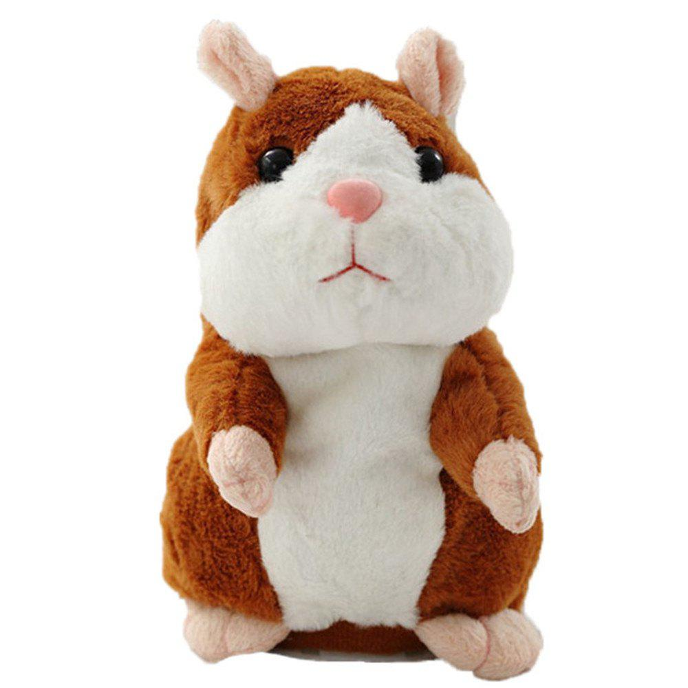 Discount Talking Hamster Mouse Pet Plush Toy Cute Speak Talking Sound Record Doll Educational Children Gift