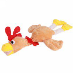 New Funny Paw Toys Lovely Novelty Flying Rooster Screaming Slingshot Plush Kids Gift -
