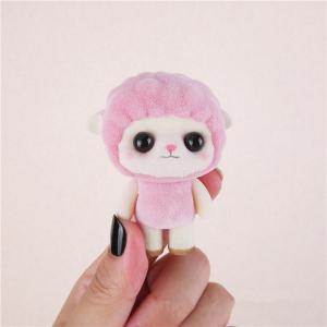 Mini Lovely Flocking Pink Sheep Doll Furnishing Articles Kids Gift -