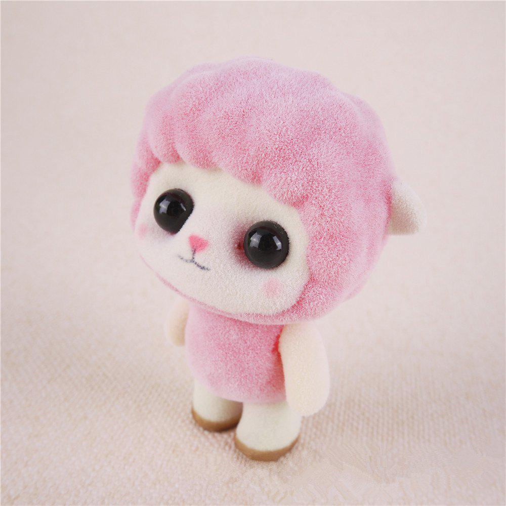 Outfits Mini Lovely Flocking Pink Sheep Doll Furnishing Articles Kids Gift
