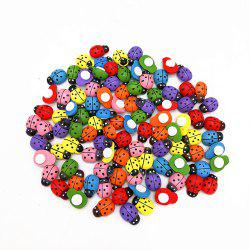 DIY7 Color Mini Ladybug Wood Paste 100PCS -