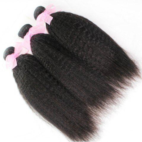Buy Kinky Straight 100 Percent Indian Human Virgin Hair Weave 10 - 24 inch 300g/lot