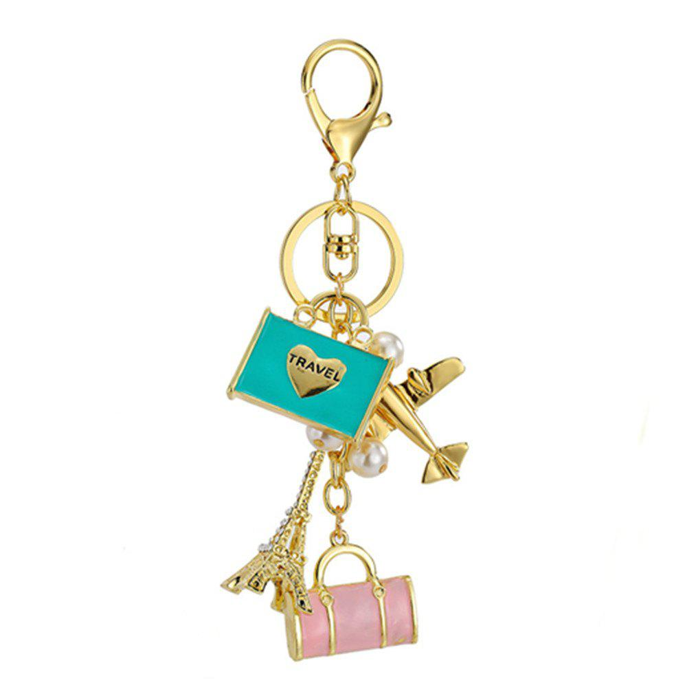 Inlay perle strass porte-clés pour Womens Bag Cellphone voiture pendentif