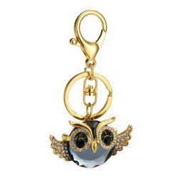 Diamondo Owl Shape Keychains Women Fashion Rhinestone Bag Pendant Car Key Accessories -