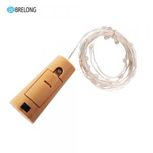 BRELONG 5LED Wine Stopper Brass Lights Decorative Light String -