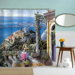 Oil Painting City 3 Polyester Shower Curtain Bathroom  High Definition 3D Printing Water-Proof -