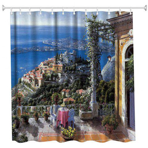 Store Oil Painting City 3 Polyester Shower Curtain Bathroom  High Definition 3D Printing Water-Proof
