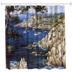 Oil Painting City 4 Polyester Shower Curtain Bathroom  High Definition 3D Printing Water-Proof -