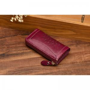NaLandu Vintage Hollow Out Design Leather Key Holder Women Wallet Pouch -
