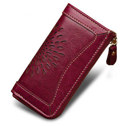 Store NaLandu Vintage Hollow Out Design Leather Key Holder Women Wallet Pouch