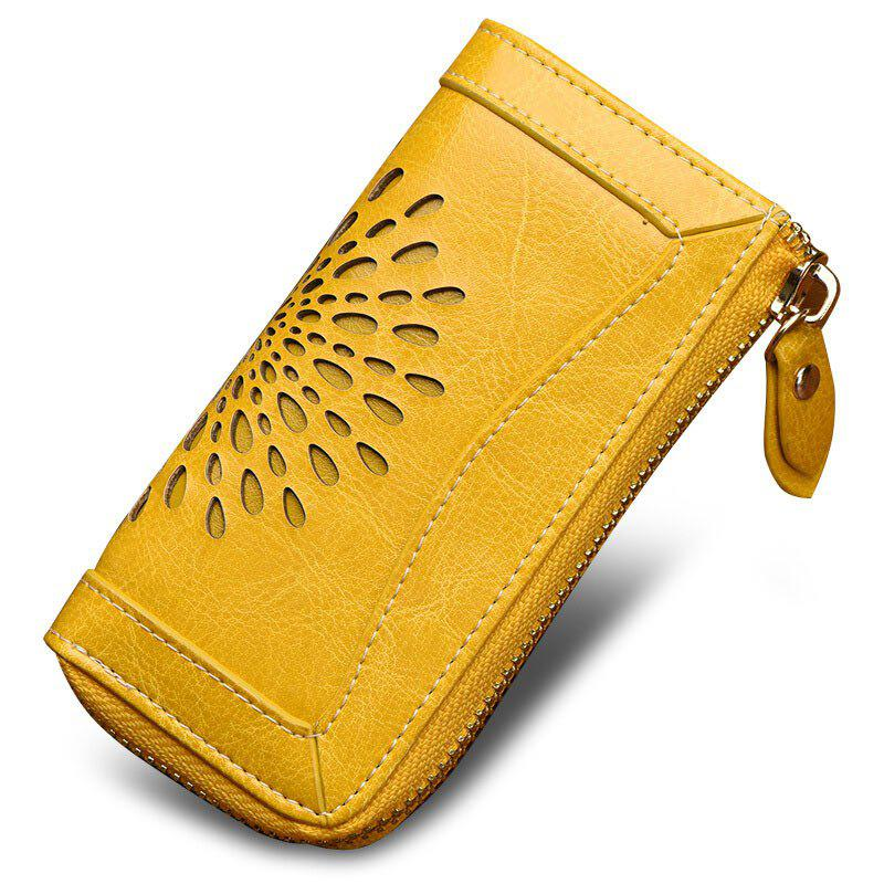 Latest NaLandu Vintage Hollow Out Design Leather Key Holder Women Wallet Pouch
