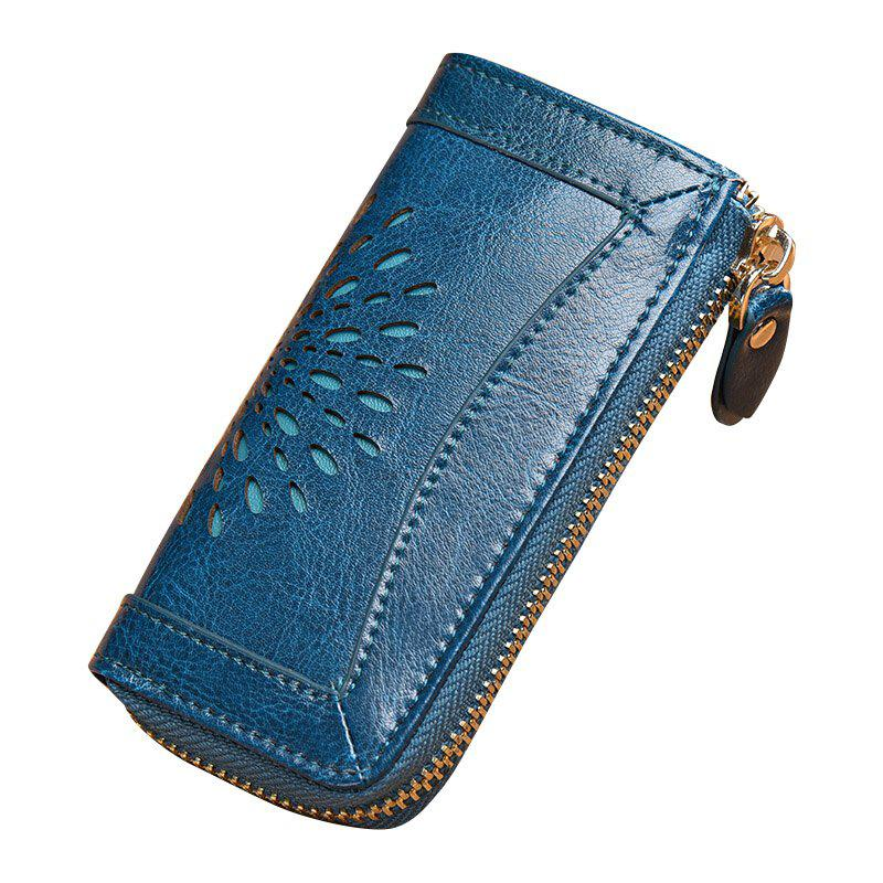 Sale NaLandu Vintage Hollow Out Design Leather Key Holder Women Wallet Pouch