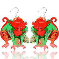 2017 New Fashion Jewelry Brand Cartoon Animal Happy Prairie Story Series Monkey Drop Earrings For Women And Girls -