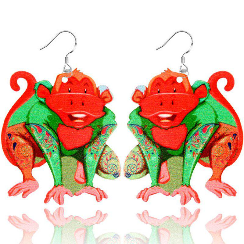 New 2017 New Fashion Jewelry Brand Cartoon Animal Happy Prairie Story Series Monkey Drop Earrings For Women And Girls