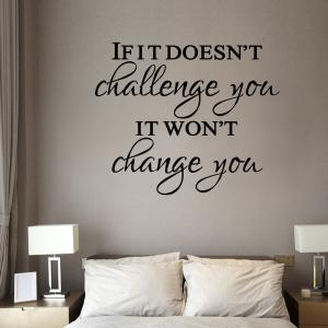 Inspirational Motto Wall Sticker For Home Decoration Waterproof Removable Decals -