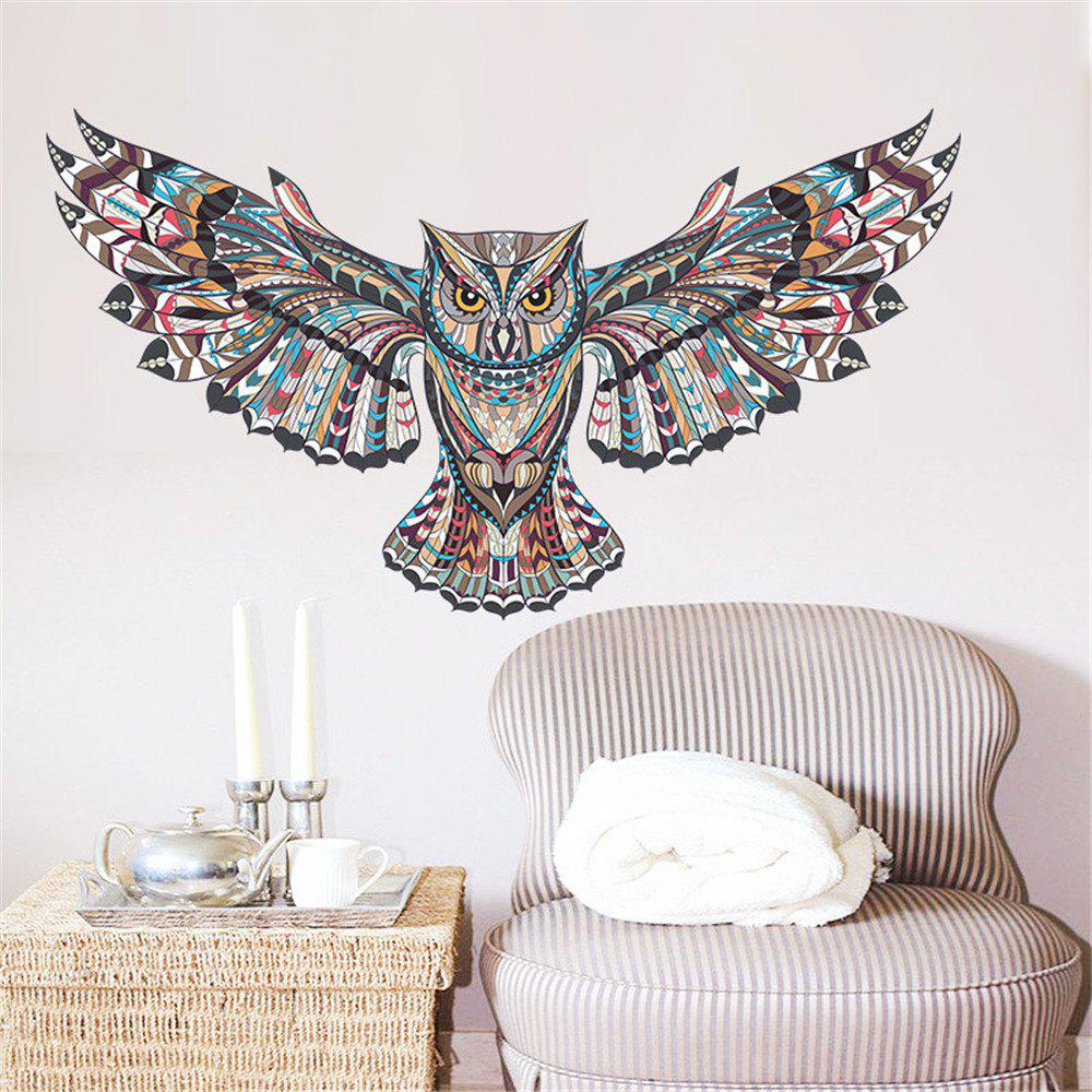 Shops Creative Cartoon Wall Stickers Owl Home Decoration Waterproof Removable Decal
