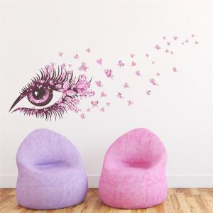 Pink Eye Butterfly Creative Decals For Home Decoration Removable Wall Art Picture -