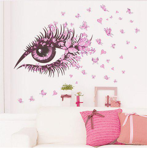 Unique Pink Eye Butterfly Creative Decals For Home Decoration Removable Wall Art Picture