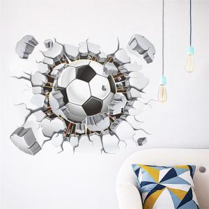 Football Club Wall Stickers 3D Decals For Home Decoration -