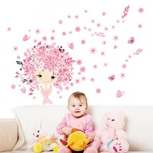 Princess Castle Wall Sticker For Kids Room Decoration Waterproof Removable Decals -