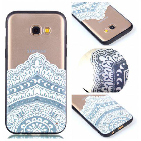 Fancy for Samsung A3 2017 Relievo Mandala Soft Clear TPU Phone Casing Mobile Smartphone Cover Shell Case