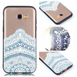 for Samsung A3 2017 Relievo Mandala Soft Clear TPU Phone Casing Mobile Smartphone Cover Shell Case -