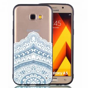 for Samsung A5 2017 Relievo Mandala Soft Clear TPU Phone Casing Mobile Smartphone Cover Shell Case -