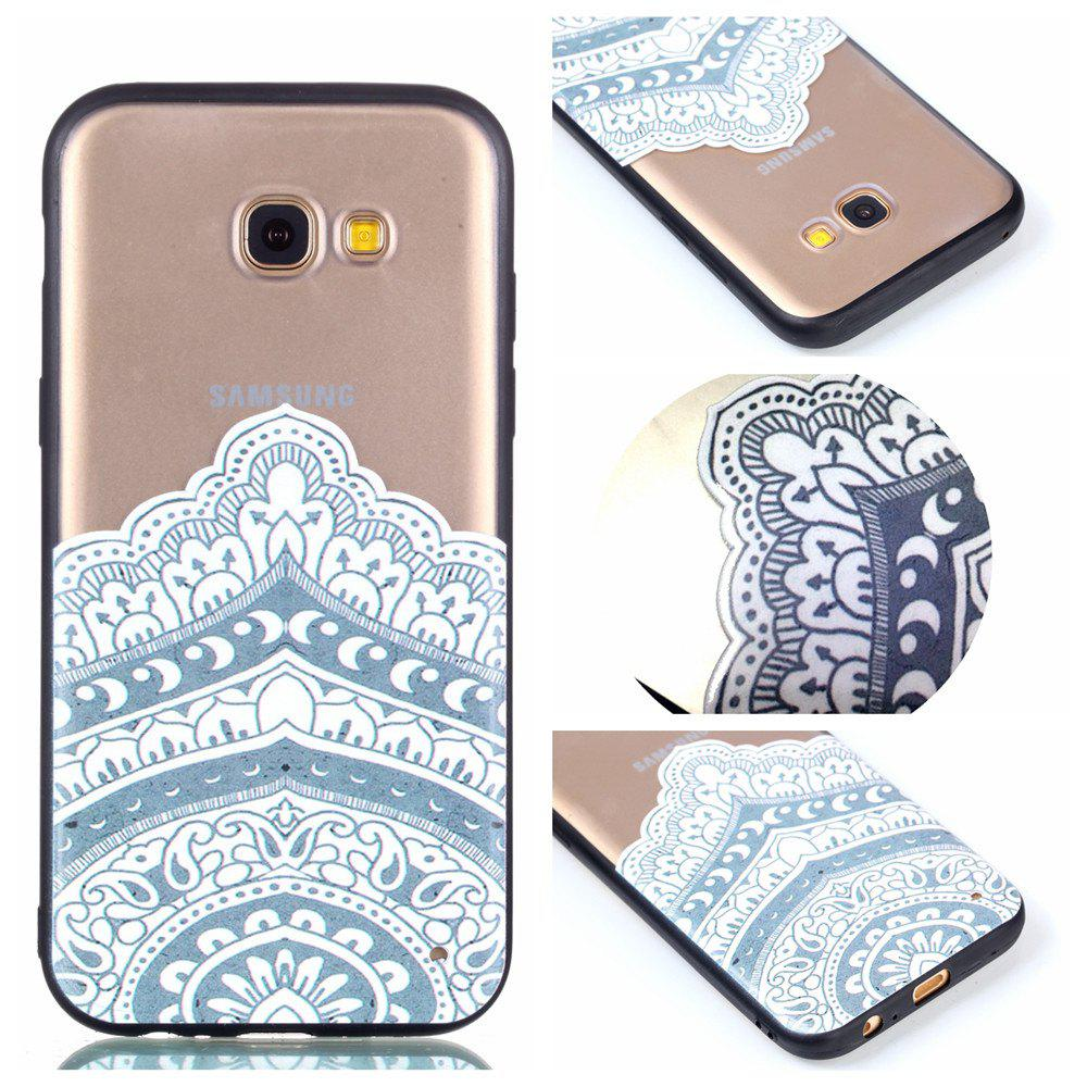 New for Samsung A5 2017 Relievo Mandala Soft Clear TPU Phone Casing Mobile Smartphone Cover Shell Case