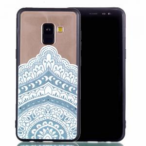 for Samsung A8 2018 Relievo Mandala Soft Clear TPU Phone Casing Mobile Smartphone Cover Shell Case -