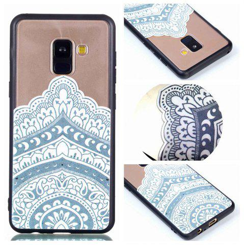Chic for Samsung A8 2018 Relievo Mandala Soft Clear TPU Phone Casing Mobile Smartphone Cover Shell Case