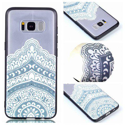 Store for Samsung A8 Plus Relievo Mandala Soft Clear TPU Phone Casing Mobile Smartphone Cover Shell Case