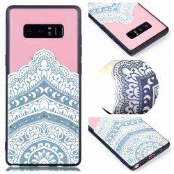 for Samsung Note 8 Relievo Mandala Soft Clear TPU Phone Casing Mobile Smartphone Cover Shell Case -