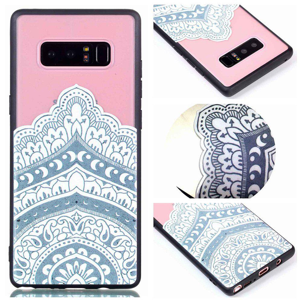 Discount for Samsung Note 8 Relievo Mandala Soft Clear TPU Phone Casing Mobile Smartphone Cover Shell Case