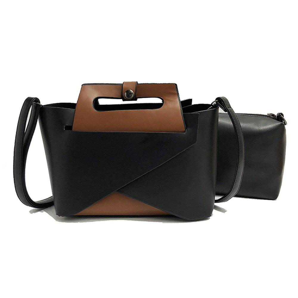 Online Europe and The United States Fashion Handbags Women Simple Shoulder Messenger Two-Piece Bag