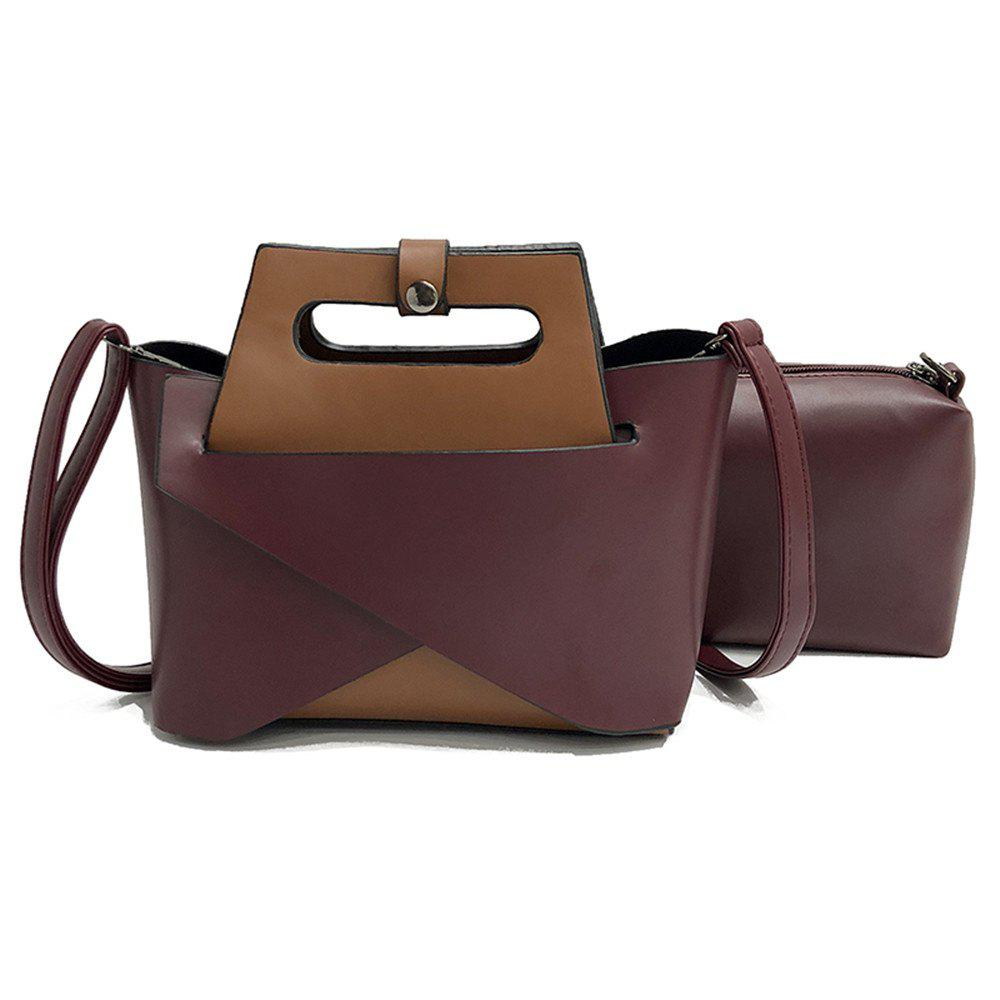 Trendy Europe and The United States Fashion Handbags Women Simple Shoulder Messenger Two-Piece Bag
