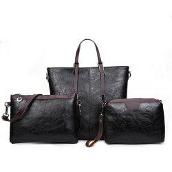 Women's Three-Piece Messenger Lady Portable Shoulder Small Bag -
