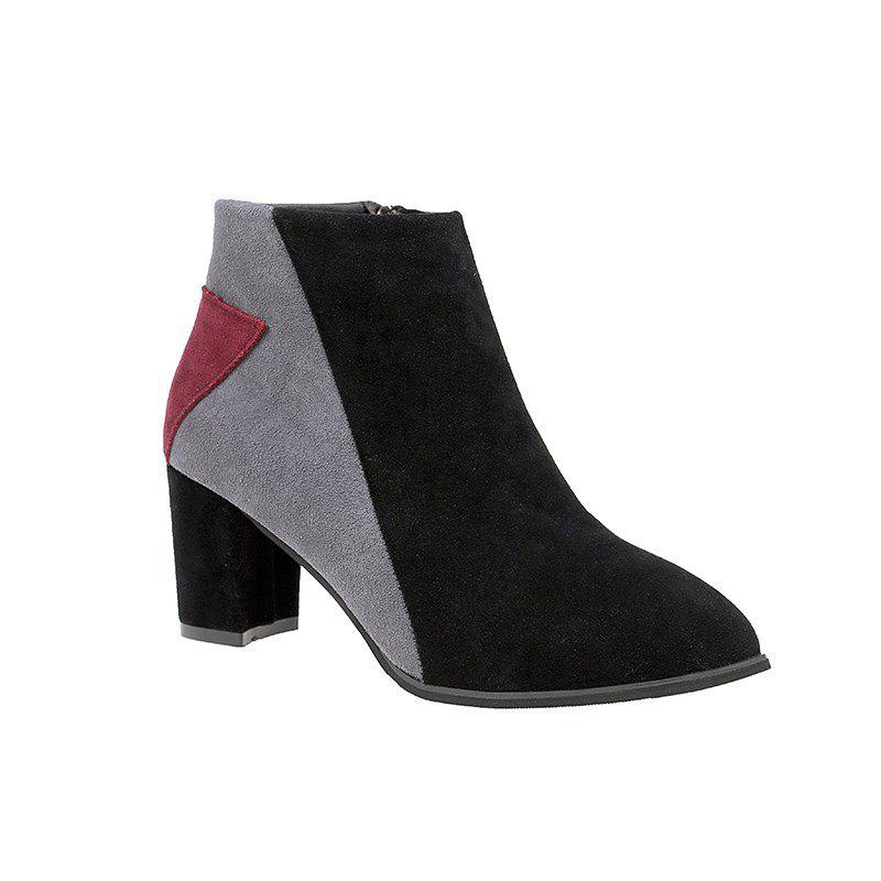 New New Pointed Side Zipper Martin Boots with High Heel