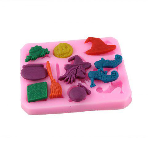 New Silicone Witch Over Embossing Cake Sugar Mold